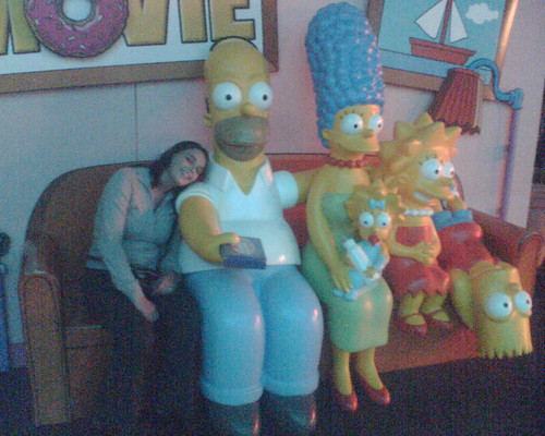 On the couch with the Simpsons