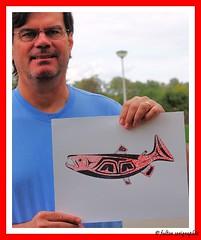Coho Salmon Screenprint (Keith.Fulton) Tags: fulton fs northwestcoast haida haidaart krfulton krfultonphotography fultonimages fultonphotography