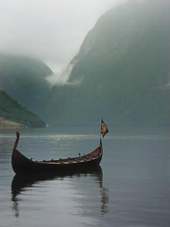 Viking ship at Gudvangen, Norway