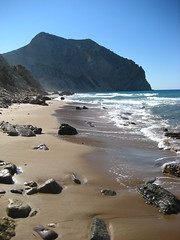 Cabo Paraiso beach (trimmer741) Tags: sea mountain beach rock seaside greece send cape