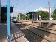 carthage hannibal station (elmina) Tags: blue tunisia trainstation tunisie hannibal tgm