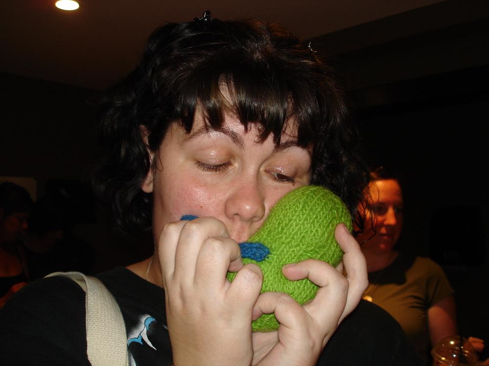 Lynne kisses Henry goodbye