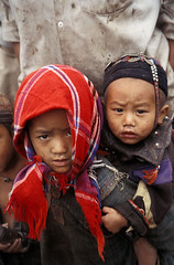 LAOS (BoazImages) Tags: life family cute face asia tribe laos indigenous hilltribe akha ikor boazimages phongsally