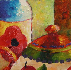 2007-0916-still life (pati b) Tags: original stilllife art watercolor painting paper acrylic gouache wanderlustart
