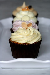 saffron cardamom cupcake with almonds and cashews