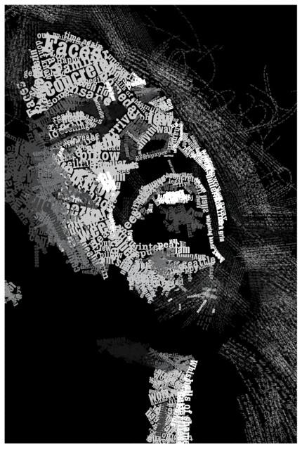 vedder poster (typography)