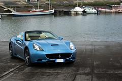 Ferrari California ([ JR ]) Tags: california blue france car nikon harbour cab convertible jr ferrari bleu exotic supercar v8 azur arcachon azzuro gironde d40 gujan mestras fialeix