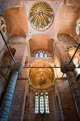 Fethiye Mzesi, Dome and Apse Ceiling (Viajante) Tags: detail art architecture turkey christ mosaic interior religion istanbul christian dome christianity orthodox byzantine tr jesuschrist prophets apse pantokrator yp2010