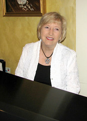 Mary Slaton at the piano