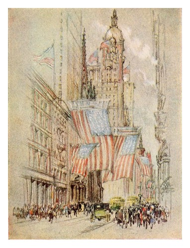 012-Parte baja de Broadway en tiempo de elecciones-The new New York a commentary on the place and the people-1909-John Charles Van Dyke