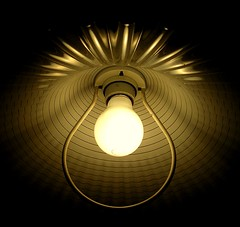 Lamp Shade (Thiru Murugan) Tags: light macro lamp closeup bulb golden circular murugan thiru welllit thirumurugan thiruflickr