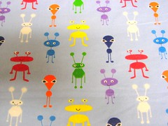 aliens (Erin Watson/Abandoned Exploration) Tags: blue color cute canon sewing picasa craft indiana aliens fabric flannel kokomo s3is maritians