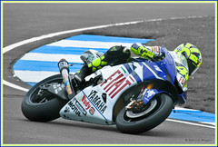 Valentino Rossi in action.