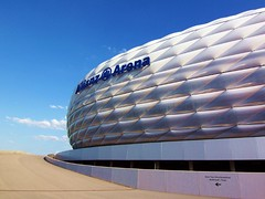 Allianz Arena (Claude@Munich) Tags: blue white architecture germany munich mnchen bayern bavaria football pattern stadium arena allianzarena fuball fcbayernmnchen claudemunich