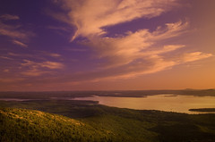 Awakening to color (IrenaS) Tags: mountains 20d sunrise canon landscape bravo maine cadillacmountain acadianationalpark 24105l
