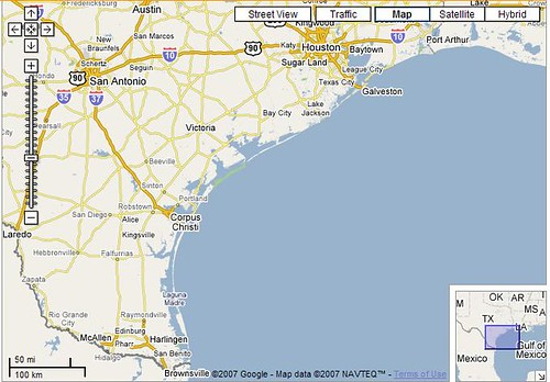 Texas Coast Map Images