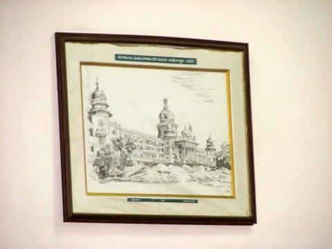 Vidhana Soudha sketchin BBMP office meeting room no 1