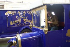 Me Driving Cadbury Truck (i-think Twenty-Two) Tags: newzealand cadbury dunedin rhys