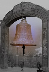 Holy bell (Lopamudra!) Tags: life people india lake man art beauty happy design peace artistic bell sweet buddhist religion innocent culture halo buddhism holy monastery sound sacred himalaya custom society buddism manali himachal himalayas simpleton chime rohtang lahul lopamudra riwalsaur