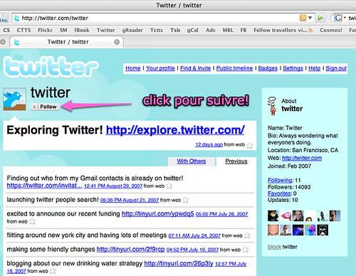 Twitter -- Follow