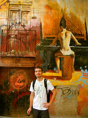 The pianist and me (Goldmund100) Tags: red portrait graffiti spain andalucia espana granada andalusia pianist murales spagna goldmund100 lucavolpi
