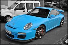 Porsche 997 GT3 MKll (ThomvdN) Tags: red white black color germany deutschland nikon porsche thom scuderia vr sportscar duitsland carphotography babyblue gt3 997 18105 nürburgring hanseat d5000 mkll thomvdn