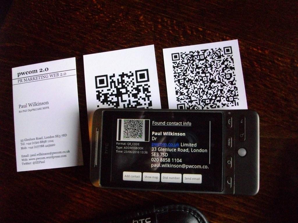 Von der Visitenkarte auf das Smartphone