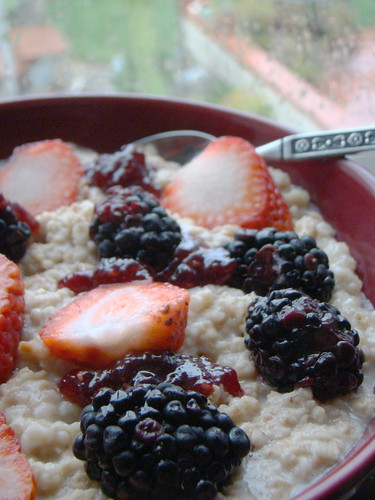 Steel Cut Oats with Berries
