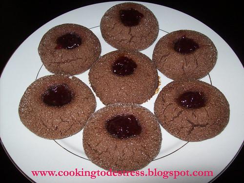 Peanut Butter & Jam Cookies