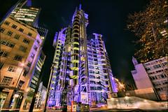 Lloyds building, City of London (John Parfrey) Tags: blue night colours vivid hdr lloyds cityoflondon lloydsbuilding