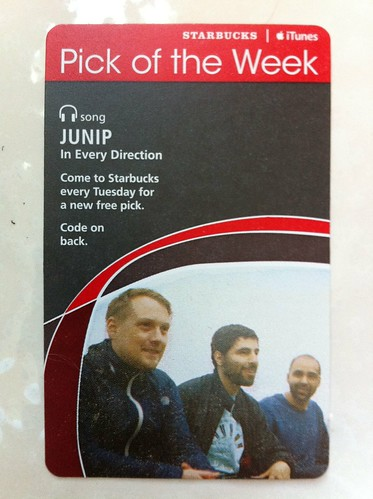 Starbucks iTunes Pick of the Week - Junip - In Every Direction