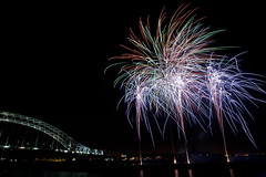 Runcorn Bridge Fireworks 2010 (Our Vale) Tags: longexposure november night cheshire fireworks mersey bonfirenight november5th runcorn nov5th runcornbridge