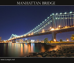 Manhattan Bridge, New York (iCamPix.Net) Tags: newyorkcity newyork brooklyn canon dumbo eastriver suspensionbridge professionalphotographer civilengineering supershot stateofnewyork fultonlanding mywinners abigfave platinumphoto anawesomeshot colorphotoaward xmaxprocessing xmax3146 civilengineeringwonder topbridgesinusa