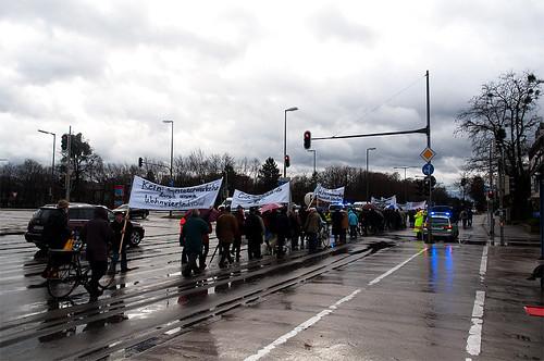 Der Demonstrationszug war überschaubar, das Verkehrschaos trat hingegen auch diesmal nicht ein.