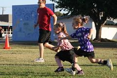 Grace chasing down ball