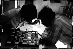 C H E S S (in.transition) Tags: people blackandwhite india game men play blind board bangalore chess documentary vision karnataka ngo socialdocumentary chessboard decisivemoment visuallyimpaired bengalooru visuallychallenged
