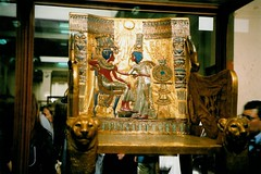 Throne of Tutankhamun (ChaoticTraveller) Tags: museum gold egypt tutankhamun egyptmuseum