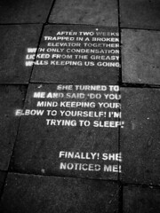 Street poetry (Simon Crubellier) Tags: uk england blackandwhite bw london westminster canon graffiti blackwhite stencil europe poetry text ixus kilburn simoncrubellier interestingness80 i500 ixus70