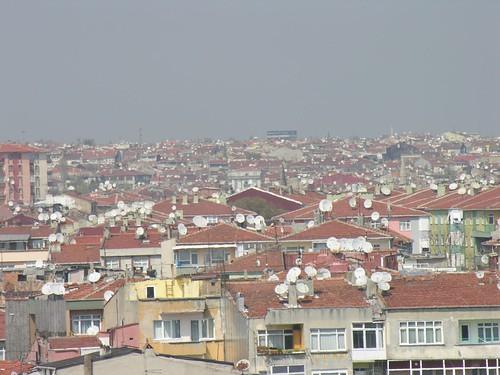Isztambul, Samatya - de legalább mindenkinél van parabola antenna