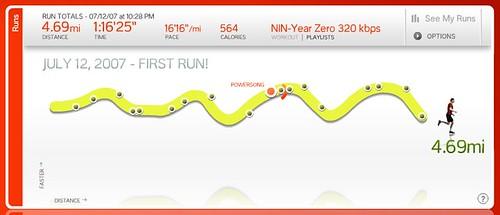 My first run...