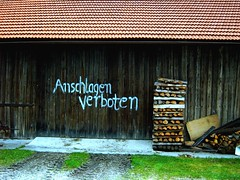 Angst vor Bin Laden ? (gatowlion) Tags: barn bayern bavaria terrorist bin laden terror wald anschlag scheune bayrischer