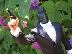 MR. TIKI Takes Aim (8 Skeins of Danger) Tags: gijoe tie bowtie joe suit tuxedo bow custom tiki tux gi kitbash 8skeinsofdanger