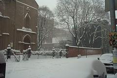 churchsnow (sideshowvideo) Tags: newyorkcity winter snow newyork church snowstorm 1995 littleitaly snowfall blizzard mott winterscene nystreet