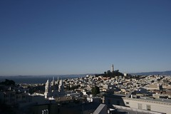 Rooftop 2 (backcountry5) Tags: sanfrancisco canon coittower 1022mm bwpolarizerfilter