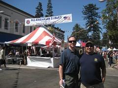 Tim & James at the annual International Street Fair in Orange, CA. (09/02/2007)