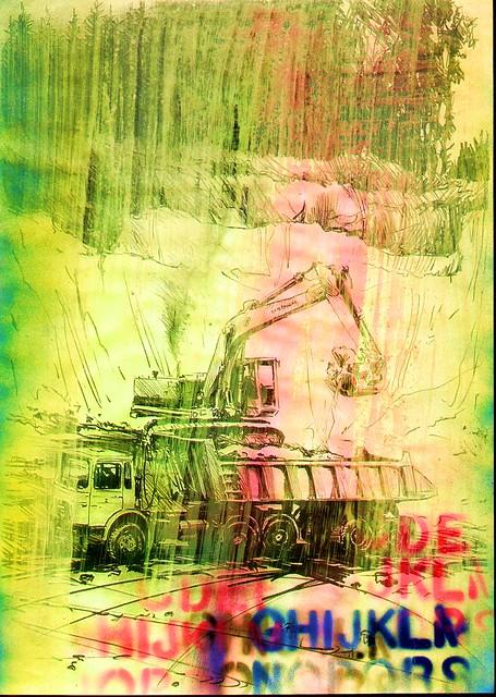 roeschke industie kunst 1998 2007 hoffmann lkw bagger regen roschke uvart by roeschke