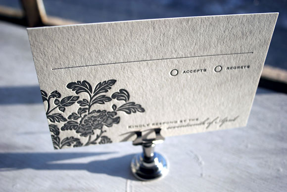 Rhon letterpress reply card - by Smock