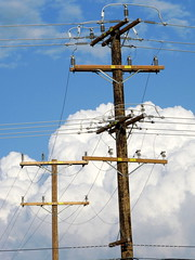 My Continuing Obsession With Power Poles-Clouds (Barstow Steve) Tags: clouds power poles