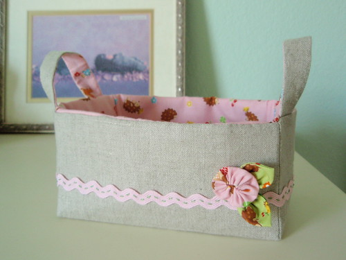 Linen Zakka Inspired Sewing Basket
