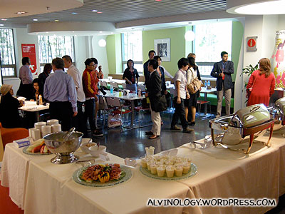 A buffet spread was prepared for our lunch in the canteen